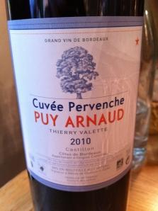 """Clos Puy Arnaud - Côtes de Castillon """"Pervenche"""" 2010"""