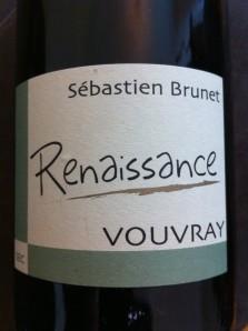 """Sebastien Brunet - Vouvray sec """"Renaissance"""" 2008"""